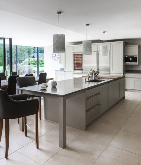 striking kitchen by mowlem co designed by jane stewart homes gardens - Homes And Gardens Kitchens