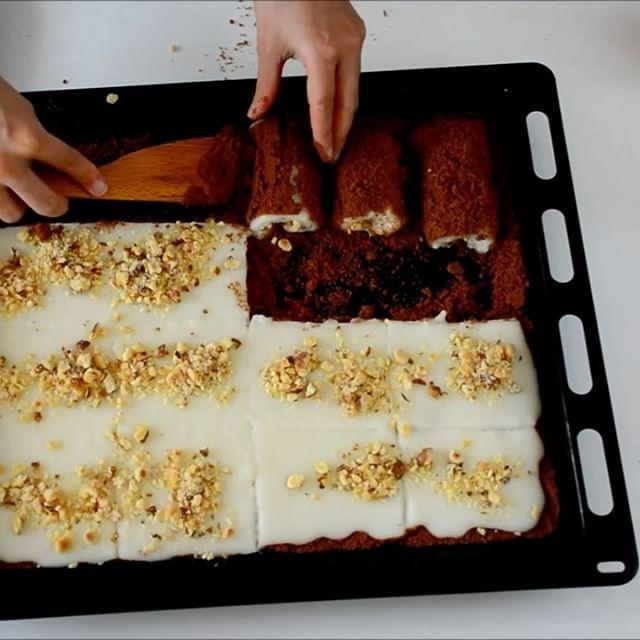 Bisküvili Kolay Rulo Pasta Tarifi