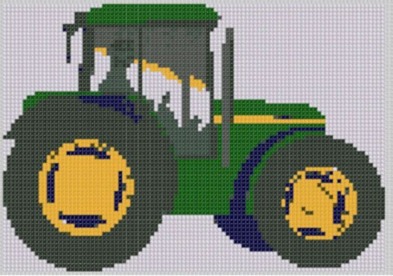 Tractor Cross Stitch Pattern by MotherBeeDesigns on Etsy, $0.99