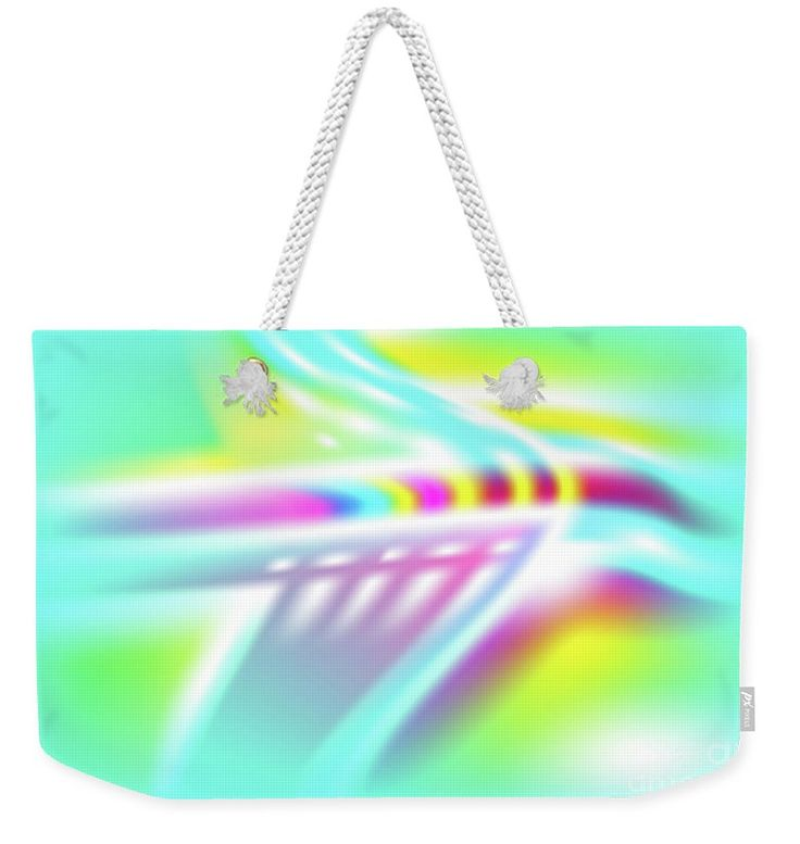 Ufo Weekender Tote Bag featuring the digital art UFO by Ron Labryzz