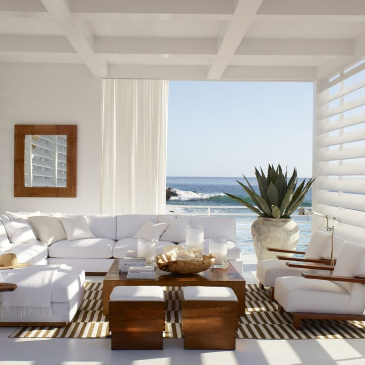 Modern Beach House Living Paradise Luxe And Beautifully Tempered Minimalist Design Ralph Lauren Create