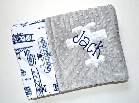 198 best baby gifts moonbeam minky images on pinterest monogrammed baby blanket minky airplane baby blanket navy and gray personalized boy gift with name vintage plane blueprint newborn negle Choice Image