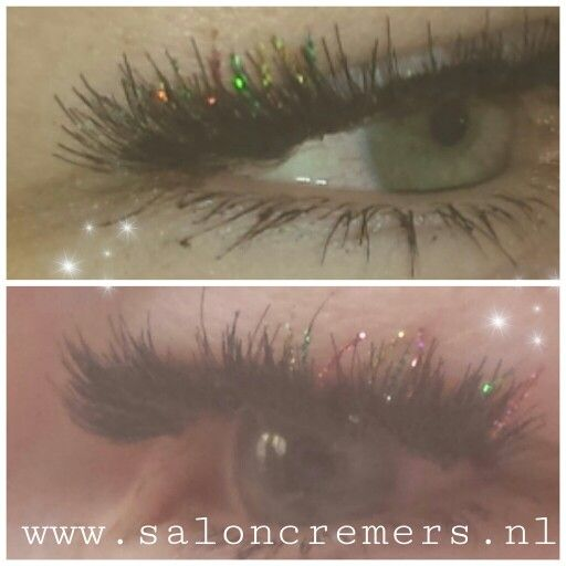 Glitter lash extensions wimperextensions met glitter pop up carnaval