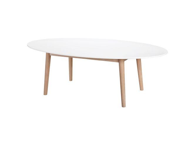 BERGSUND Soffbord 130 Vit i gruppen Inomhus / Bord / Soffbord hos Furniturebox (100-35-67265)