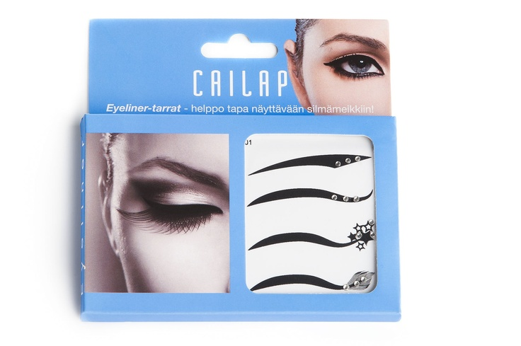 Eyeliner tarroilla strassien kera luot hetkessä näyttävän silmämeikin!