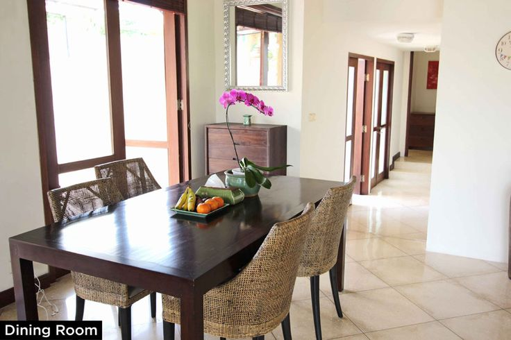 Dining Room • PRIVATE POOL VILLA ON SANUR, BALI • FOR SALE • 800m2 land area • 2 Bedroom villa with private pool • Gated estate with expatriate villas • 24 hours security • 500 metres from bypass Sanur • 25 years leasehold • For Enquiries: (+62) 0819 9941 1123 • Email: info@villakambojasanur.com