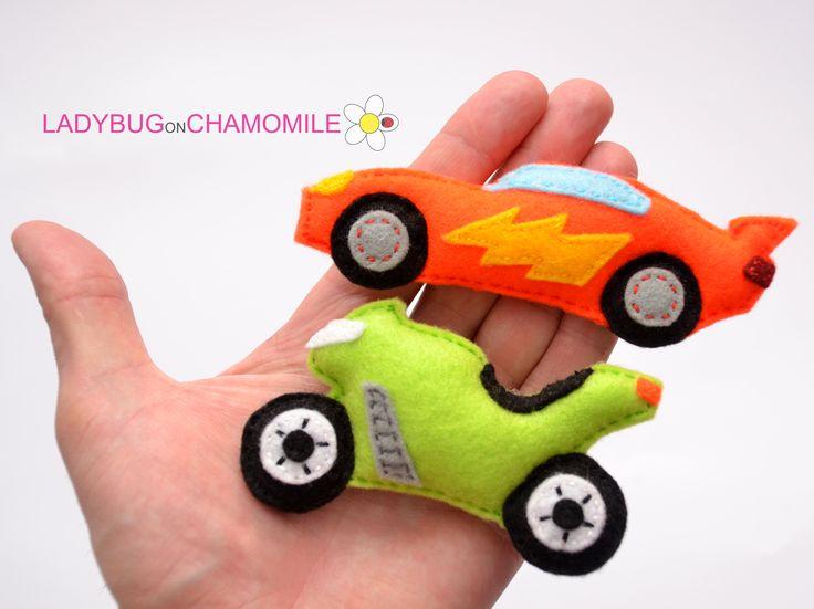 MOTORBIKE AND CAR FOR KIDS - FELT MAGNETS - FRIDGE MAGNETS