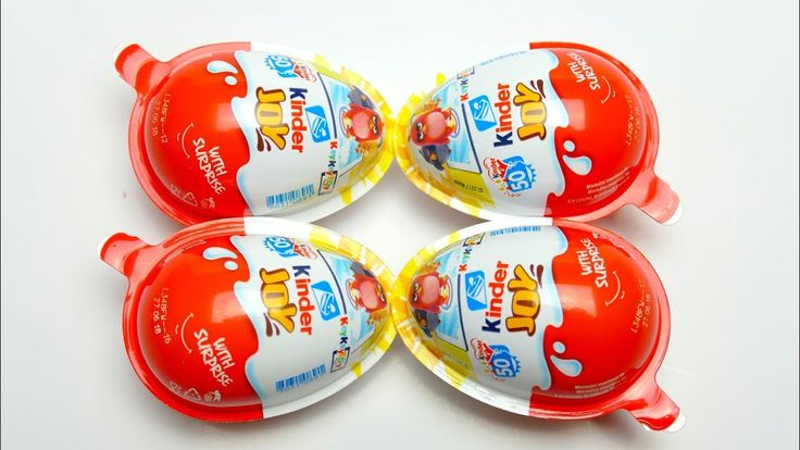 4 Kinder Joy Surprise Egg with Toys and Candy