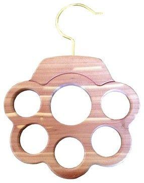 Cedar Scarf Hanger - 6 Holes modern-hooks-and-hangers