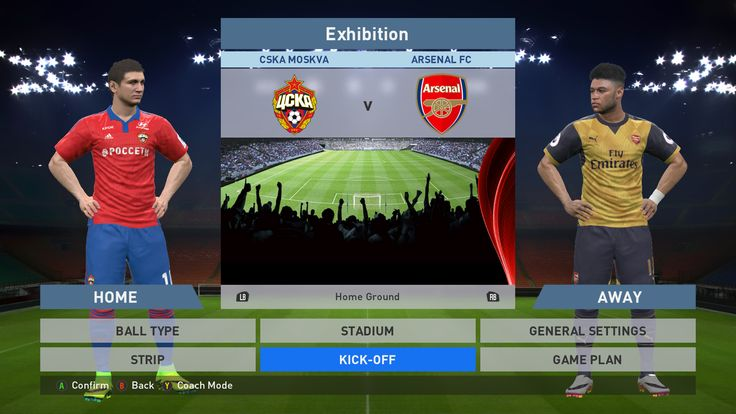 CSKA Moskva vs Arsenal FC, VEB Arena, PES 2016, PRO EVOLUTION SOCCER 2016, Konami, PC GAMEPLAY, PCGAMEPLAY