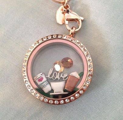 Coffee lovers Origami Owl. Independent Designer ❥TO SHOP: lindseylou.origamiowl.com