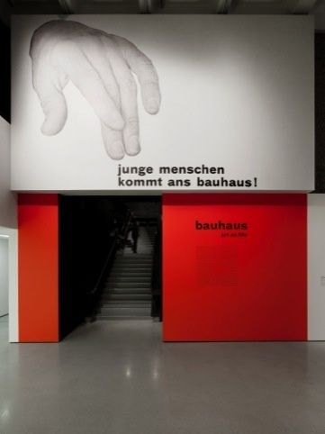 Apfel's graphics for the Barbican Bauhaus exhibition...graphics in context
