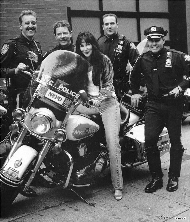 C THRU, letsride:   Cher with the NYPD