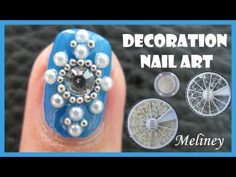 220 best meliney nail art design videos images on pinterest art pearl beads rhinestones decoration nail art no brush required design tutorial for short nails prinsesfo Gallery