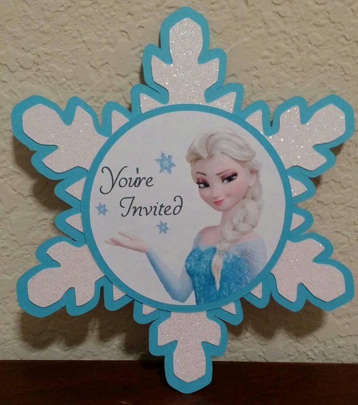 Frozen Invitations handmade Very cute by MesmerizingDesigns on Etsy https://www.etsy.com/listing/228468379/frozen-invitations-handmade-very-cute