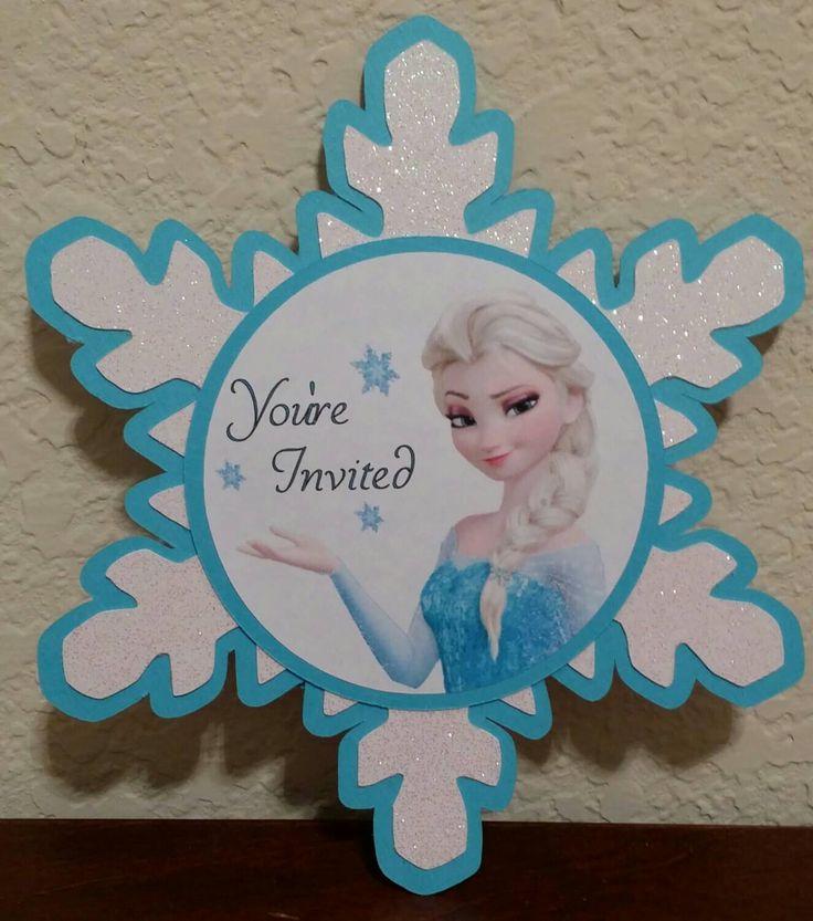Frozen Invitations handmade Very cute by MesmerizingDesigns on Etsy https://www.etsy.com/listing/228468379/frozen-invitations-handmade-very-cute
