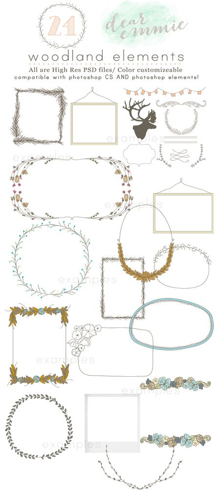 Woodland Elements. / Dear Emmie {Mindy Young Designs}