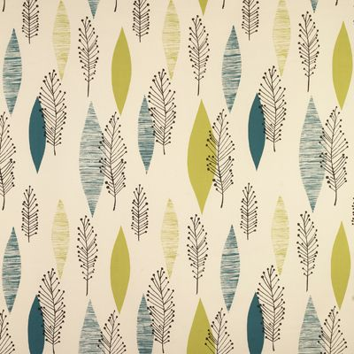 LUPIN 04 TURQUOISE AND LIME`    A stylish print combining organic and geometric forms inspired by textiles from the 1950s.  Contains Colours: Green, Blue, Black    Fabric Construction: 100% Cotton Satin    Fabric Width: 137cms (54 inches)    Pattern Repeat: 63cms (25 inches)    Fabric Price: £15.00 per Metre
