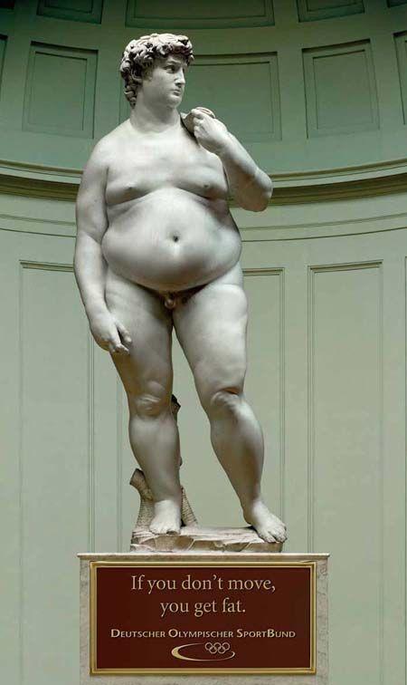 L'obésité a été reconnue comme une maladie chronique en 1997 par l'OMS. Nous avons même un chef-d'œuvre de Michelange pour bien illustrer nos propos!