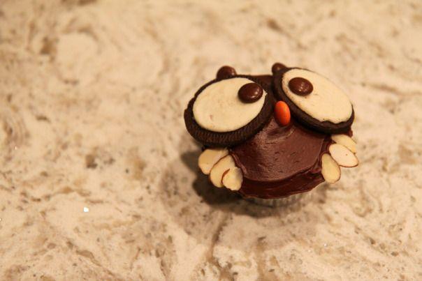 Harry Potter Owl Cupcake Stronglikemycoffee.com Blog