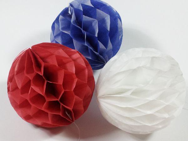 Bolas de nido de abeja para decorar | Aprender manualidades es facilisimo.com