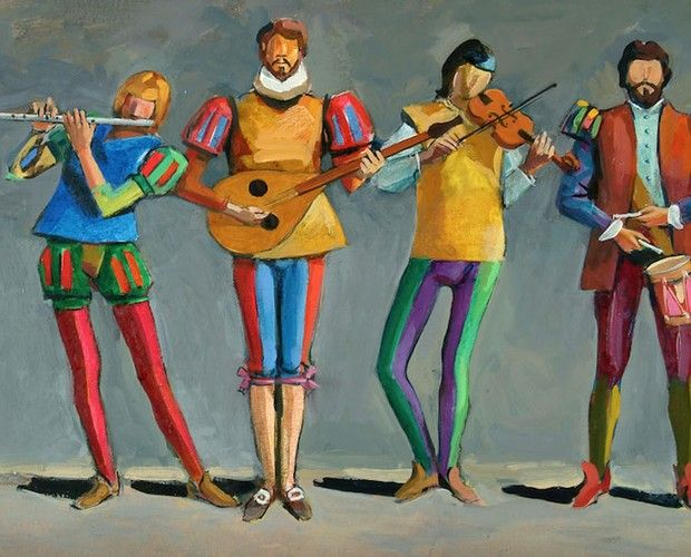 Músicos, de Carybé......Elfi Kürten Fenske: Carybé (Hector Julio Páride Bernabó) - A arte e a paixão pela Bahia