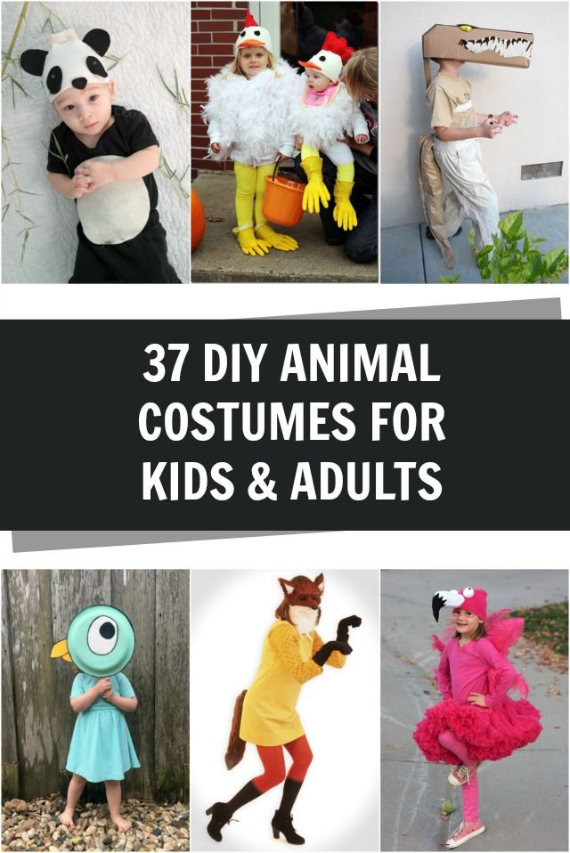Adorable Diy Animal Costumes For Kids And Adults Creating Really