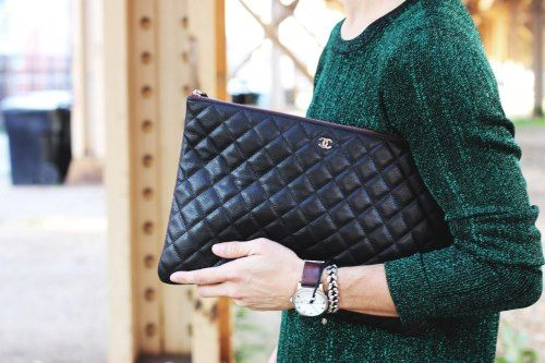 Chanel Quilted Lambskin Clutch Bag- O Case
