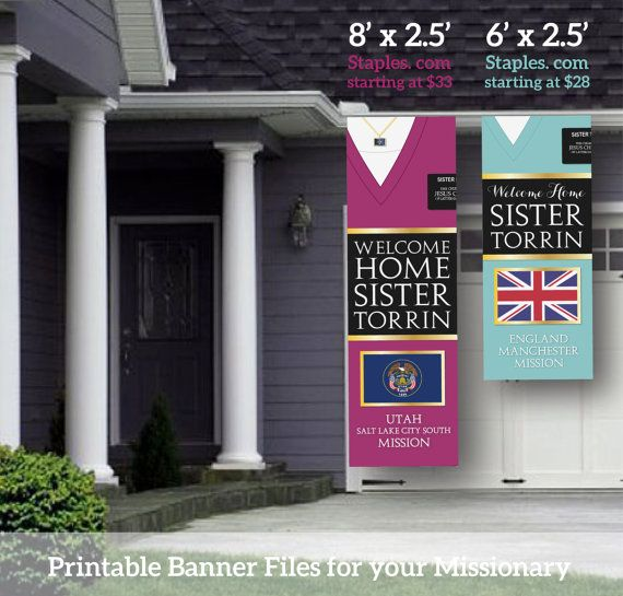 Giant LDS Missionary Welcome Home Banner Poster by MeckMom on Etsy