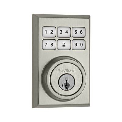 Kwikset Smartcode Touchpad Electronic Deadbolt with Smartkey Finish: Satin Nickel