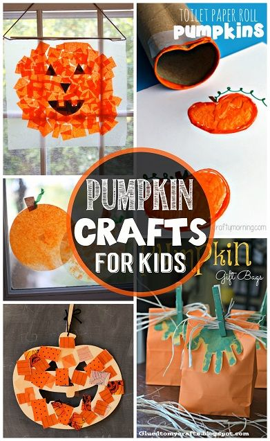 Easy Pumpkin Crafts for Kids to Make this Fall #Halloween crafts for kids | CraftyMorning.com