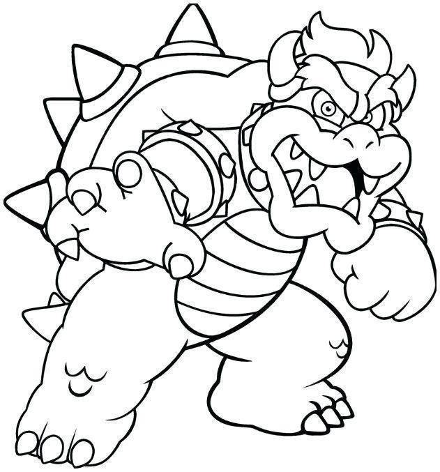 Bowser Para Colorear In 2020 Monster Coloring Pages Super Mario Coloring Pages Super Coloring Pages