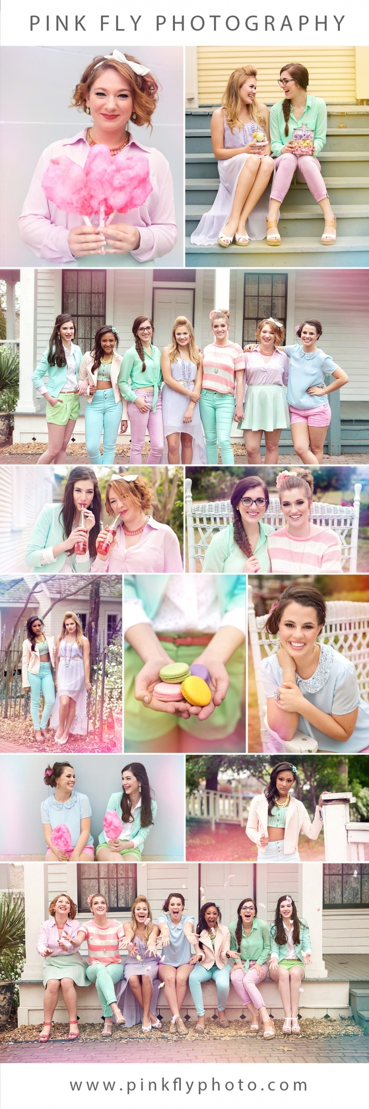 Pink Fly Photography » Dallas area photographer specializing in high school seniors | Senior Rep Model Shoot #cottoncandy #pastels #seniorreps