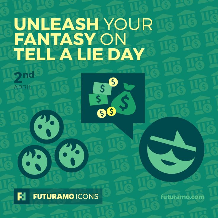 Unleash your fantasy on Tell A Lie Day! Check out our FUTURAMO ICONS – a perfect tool for designers & developers on futuramo.com