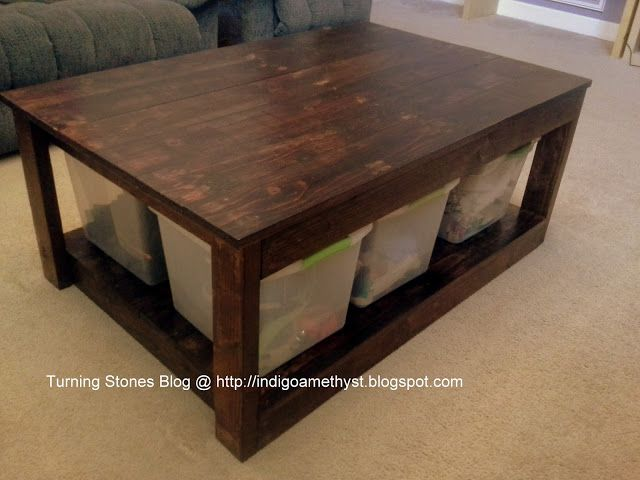 Turning Stones Blog Homemade Coffee Table Based On Ana White Plans