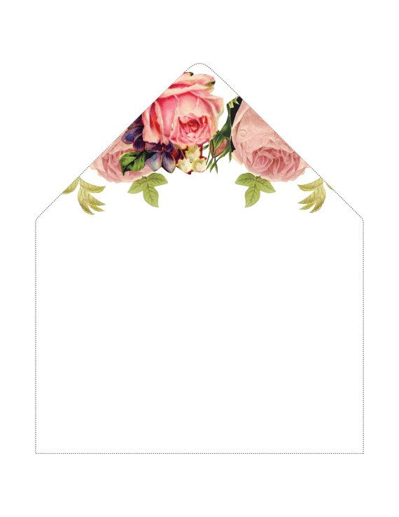 Envelope Liners  Bohemian Boho Floral by LoveLoveMeDoDesigns