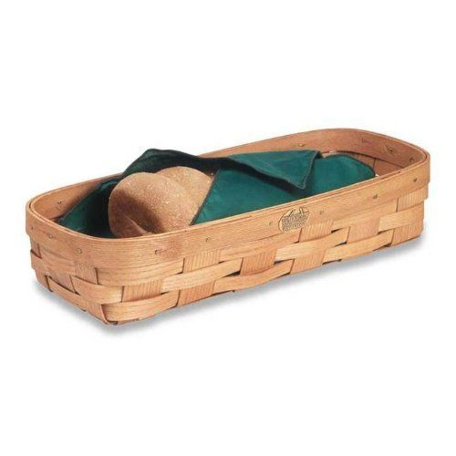 French Bread Basket by Peterboro Basket Company. $24.00. BB2 You'll love presenting bread or rolls in a hand-crafted, made-in-America basket. Features: -Finish: Honey. -Handcrafted. -Designed for serving warm bread right out of the oven. -Made in America.