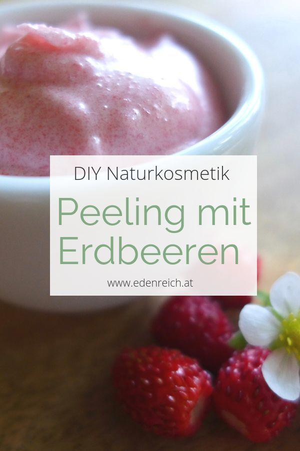 Erdbeerpeeling-Rezept – #ErdbeerpeelingRezept