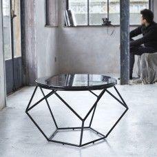 Tavolino tondo in Marmo e Metallo