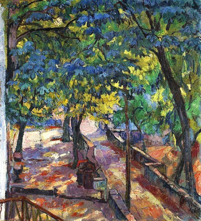 Under the chestnut, 1919 / Giovanni Giacometti