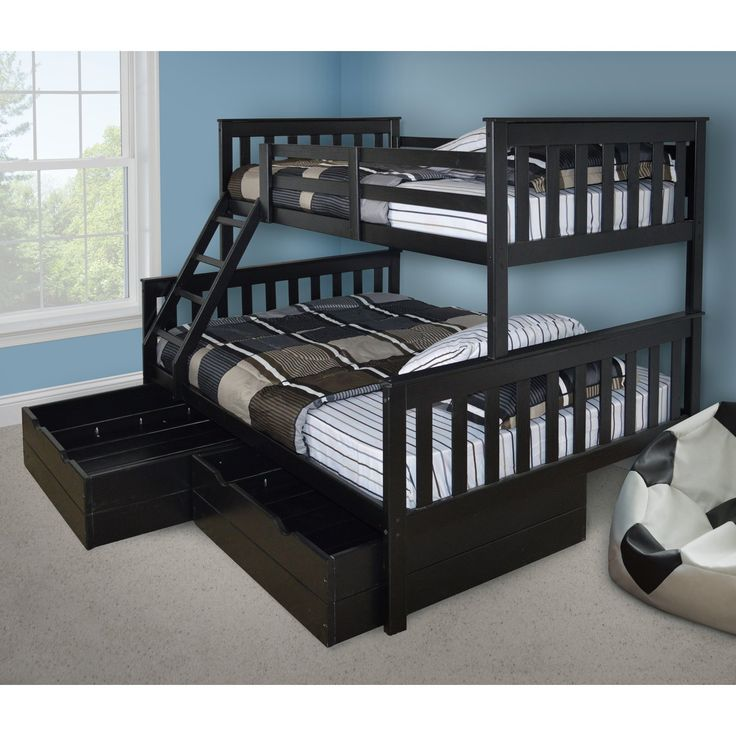 VersaLoft Mission Twin over Full Bunk Bed | from hayneedle.com