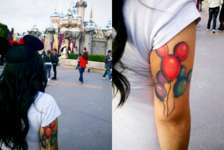 Mickey and minnie mouse tattoo done by nicola