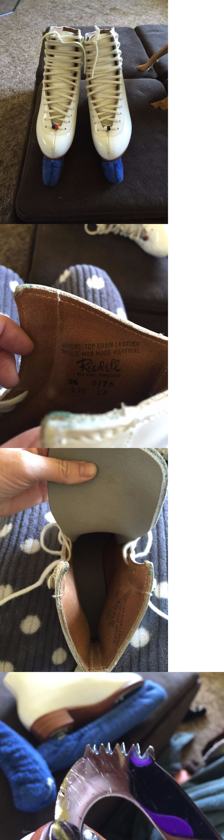 Women 21227: Riedell Ice Skates Size 5.5 BUY IT NOW ONLY: $50.0