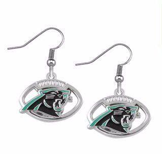 awesome Carolina Panthers Earrings - Womens Ladies Jewelry - Carolina Panthers Football Team Memorabilia - Shipped from USA
