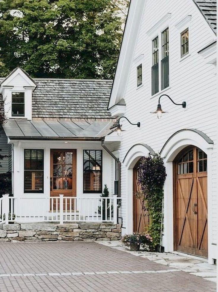 68+ Top Modern Farmhouse Exterior Design Ideas
