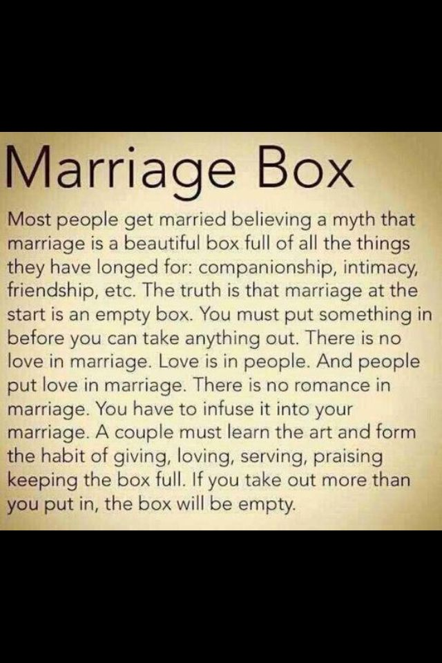 Inspirational Marriage Quotes Quotesgram: Marriage Box Inspirational Sayings