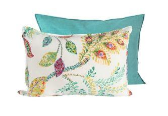 Bright Colour Leaf Pattern Pillow