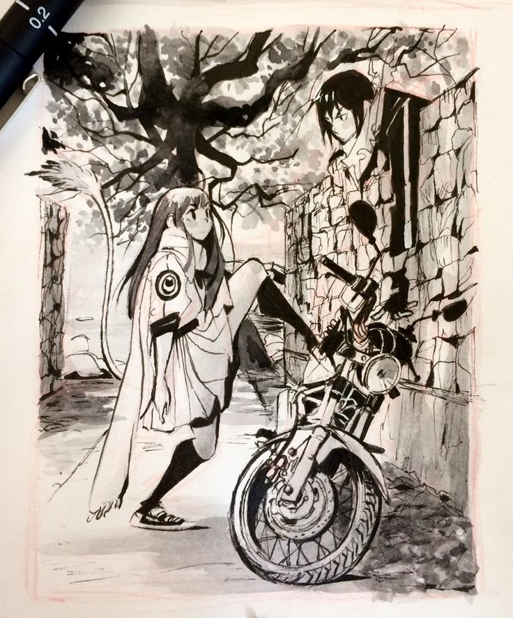 """DAY 27 inktober 2016 : """" After watching two episodes of Noragami """""""