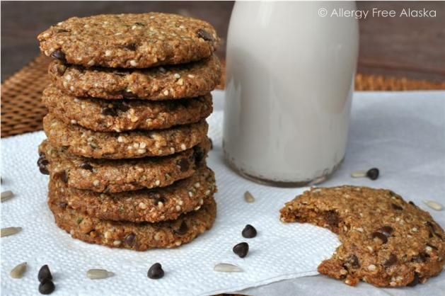 Protein Packed Monster Breakfast Cookies (grain, egg & nut free) http://www.lillianstestkitchen.com/episodes/cooking-episodes/breakfast/carrot-orange-spice-cupcakes-coconut-orange-buttercream-frosting-paleo-gaps-giveaway/
