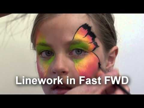 Easy Face Painting Design, Step By Step Face Painting Guide - YouTube